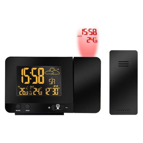 Multifunctional Digital LCD Radio-Controlled Projection Alarm Clock