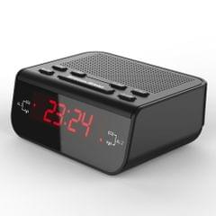 Compact Digital Alarm Clock FM Radio with Dual Alarm Buzzer Snooze Sleep Function Red LED Time Display