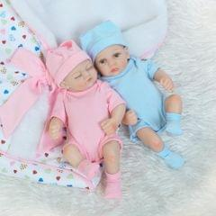 10in Reborn Baby Rebirth Doll Kids Gift All Silica Gel Twins