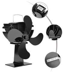 4 Blades Home Fireplace Fan Efficient Heat Distribution