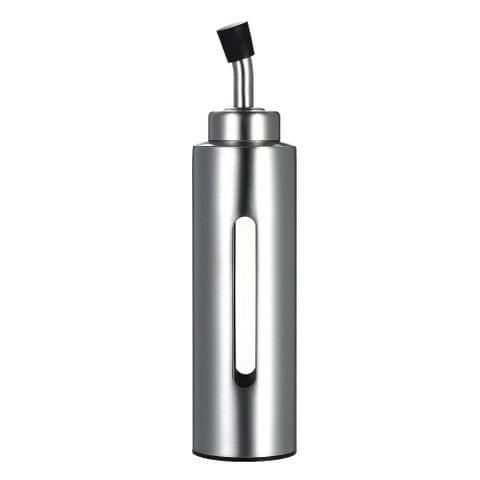200ml/7oz Oil & Vinegar Dispenser Cruet Stainless Steel Olive Oil Sauce Pourer Dispensing Bottle Leak-proof Container for Kitchen