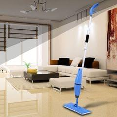 2 in 1 Household Spray and Scrubbing Mop Microfiber Magic Flat Mop Floor Sweepe One-handed Handheld Swob 360° Univeal Rotating Glass Mops