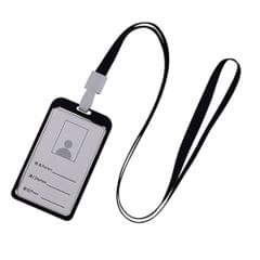 Vertical Style Aluminum Alloy Badge Holder with Lanyard