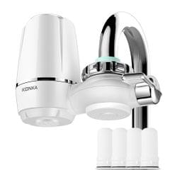 KONKA Water Faucet Filtration System with 4 Filter Cartridges
