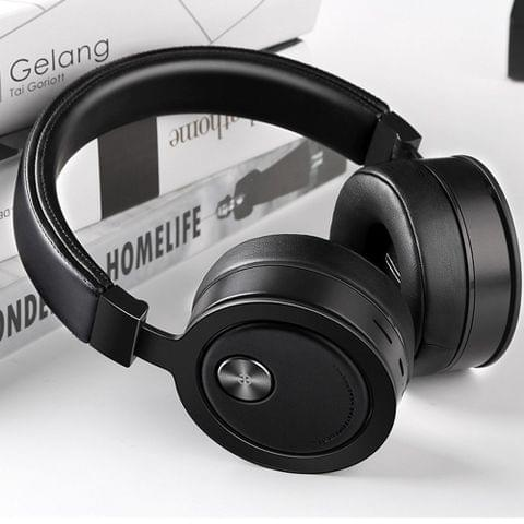 Picun P18 Bluetooth Headset Foldable Over Ear Headphones Metal Earphone Support TF Card 3.5mm AUX IN Carbon Black