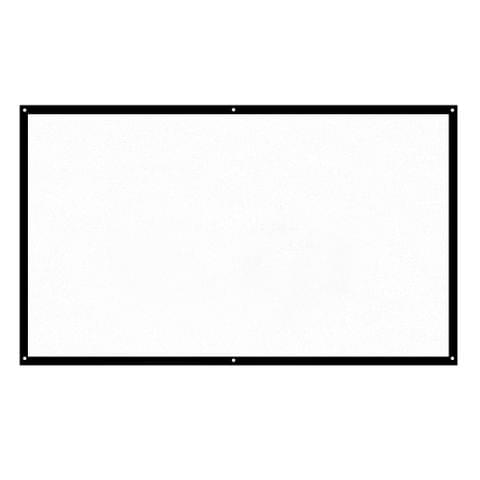 H84 84'' Portable Projector Screen HD 16:9 White 84 Inch Diagonal Projection Screen Foldable Home Theater for Wall Projection Indoors Outdoors
