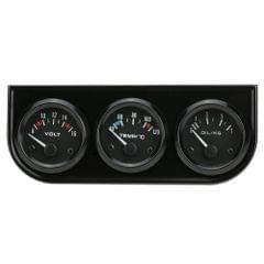 52mm Electronic Triple Gauge Kit Oil Pressure Water Temperature Gauge Voltmeter 3 in 1 Car Motorcycle Meter