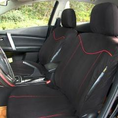 TIROL Car Seat Cover Auto Interior Accessories Universal Styling Car Cover Black + Red