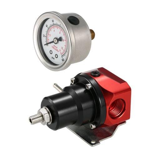 AN10 Fuel Pressure Regulator Adjustable Bypass 2-Port Rising Rate