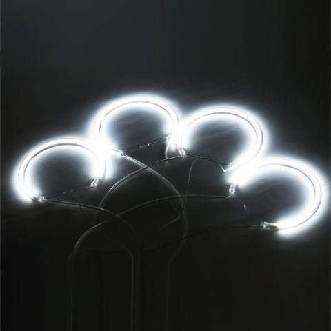 4PCS Reflector CCFL Angel Eye Rings 6000K Halo Light Lamp Kit for BMW 3 SERIES E46 Blue/White