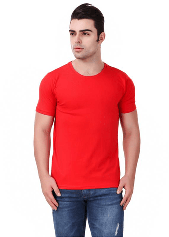 Mens Cotton T Shirt - Red