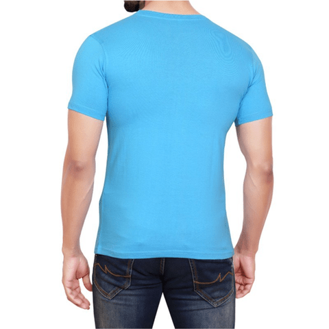 Mens Cotton T Shirt - Blue