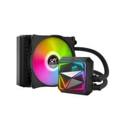 SOPLAY Cooler Fan Water Cooling CPU Radiator 120mm Quiet Fan Pure Copper Rainbow Color Auto Running Support Intel/AMD