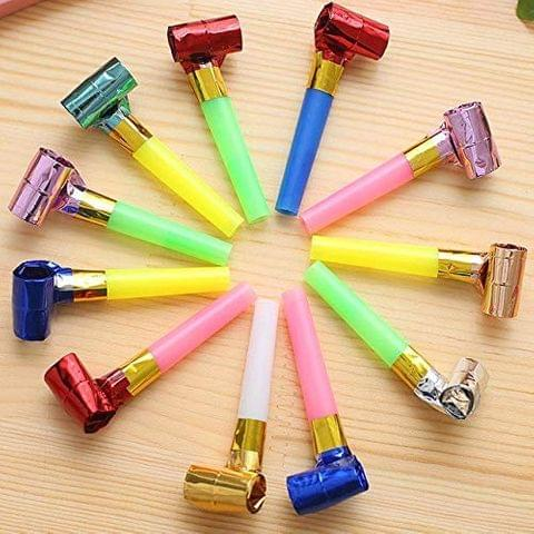 Crazy Sutra 50Pc Packs Party Horns Noisemakers Blow Outs Whistles Toys for Birthday Party Favors,Party Blowouts