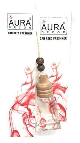 Crazy Sutra Aura Decor Bottle Shaped Hanging Car Reed Freshner cum Diffuser (Clear)