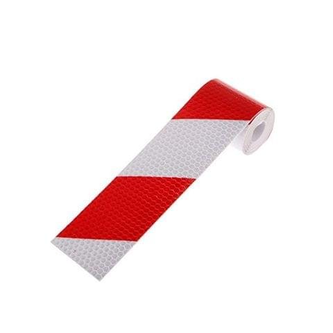 3M Reflective Safety Warning Conspicuity Tape Film Sticker, Red/White