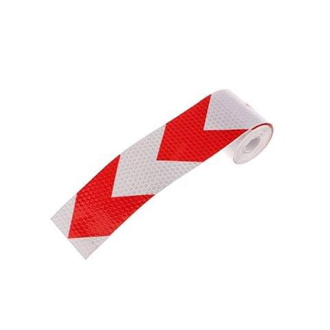 3M Reflective Safety Warning Conspicuity Tape Film Sticker, Red/White, Arrow Patttern