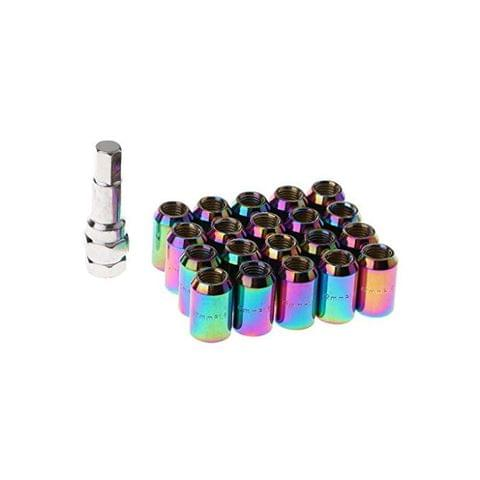 20 Pieces Universal Auto Car M12x1.5MM Wheel Rim Lug Nuts with Removal Tool - color