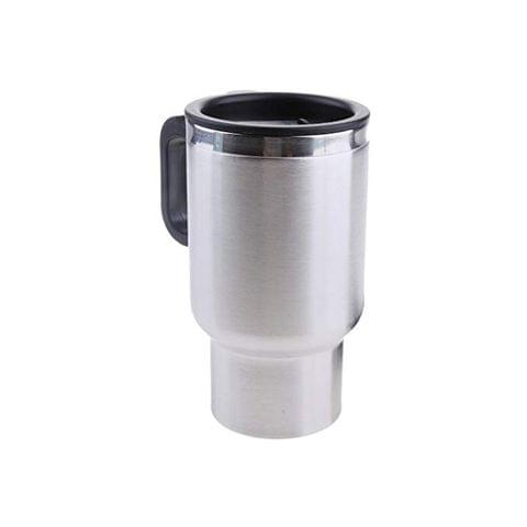 Car Electric Hot Cup Car Heated Mug Car 12V Heating Cup Car Insulation Cup Stainless Steel Coffee Mug Stainless Steel Travel Electric Cup