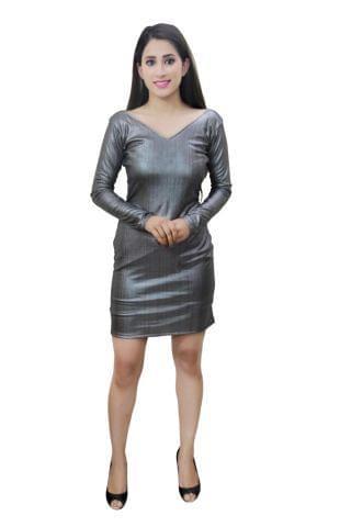 Silver colour designer party wear dress