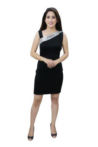 Black colour designer party dress