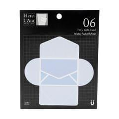 بطاقات هدايا لاصقة بتصميم بريدي بلون أزرق