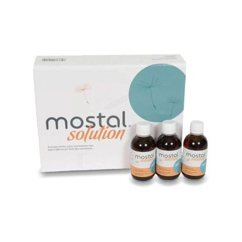 موستال محلول لتجديد نمو الشعر و الحد من التساقط  مجموعة كاملة 3*50مل