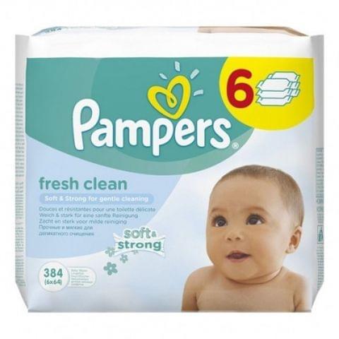 مناديل مرطبة للأطفال - 64 منديل فرش كلين - عبوة من 6 (4+2 مجانا) 384 منديل