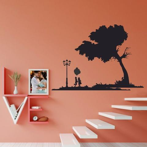 """DIY Wall Stickers Park Silhouette for Home Décor (36""""X24"""")"""