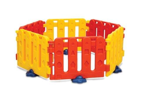 PLAY PEN RED/YELLOW