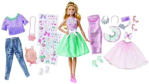 BARBIE FASHION ACTIVITY GIFTSET WITH CLOTHES