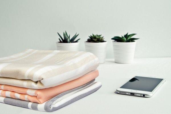 100% Bamboo Light Weight Turkish Bath Towel (Beige)