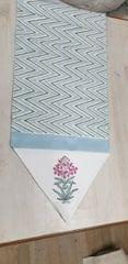 Hand block Print Table Runners on canvas by Nushayani
