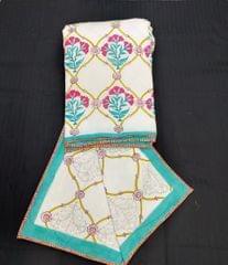 Handblock Print Dohars Single Pair