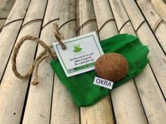 10 Plantable Okra/Ladyfinger Seed Balls with Seeds