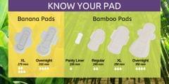 Saathi XL Bamboo Fiber Biodegradable Sanitary Pads- Pack of 12