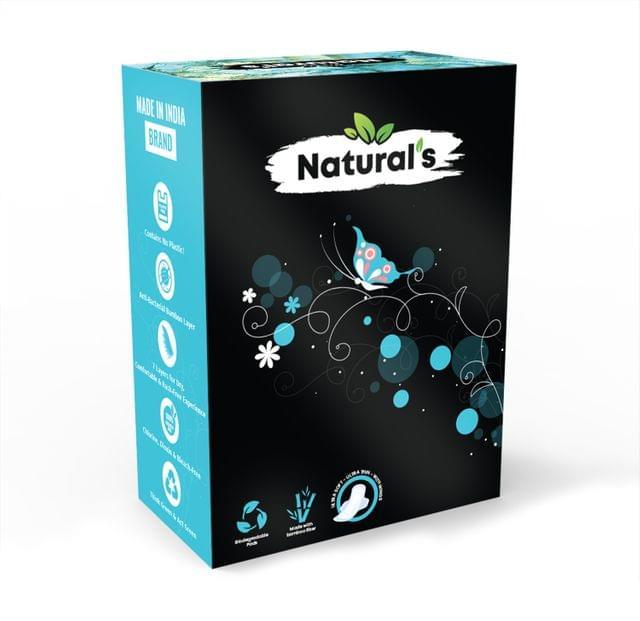 Natural's Regular Bamboo Fiber Biodegradable Sanitary Pads- Pack of 7