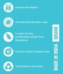 Natural's Regular Bamboo Fiber Biodegradable Sanitary Pads- Pack of 14