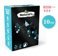 Natural's Overnight Bamboo Fiber Biodegradable Sanitary Pads- Pack of 10