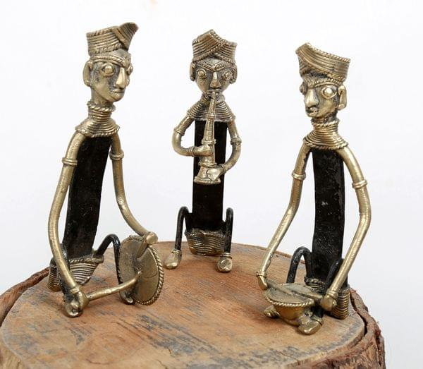 Dhokra Craft Brass  Iron Musician Set of 3