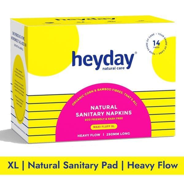 Natural & Organic Maxi Fluff Sanitary Napkins (14 Pads)