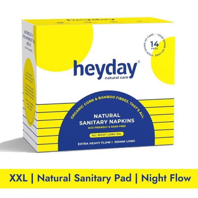 Natural & Organic All Night Long Sanitary Napkins (14 Pads)