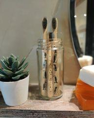 Bamboo Toothbrush with Charcoal Bristles - Set of 3