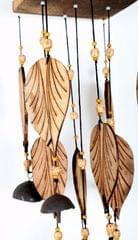 Wooden wind chime Leaves