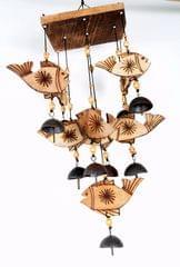 Wood wind chime -FISH
