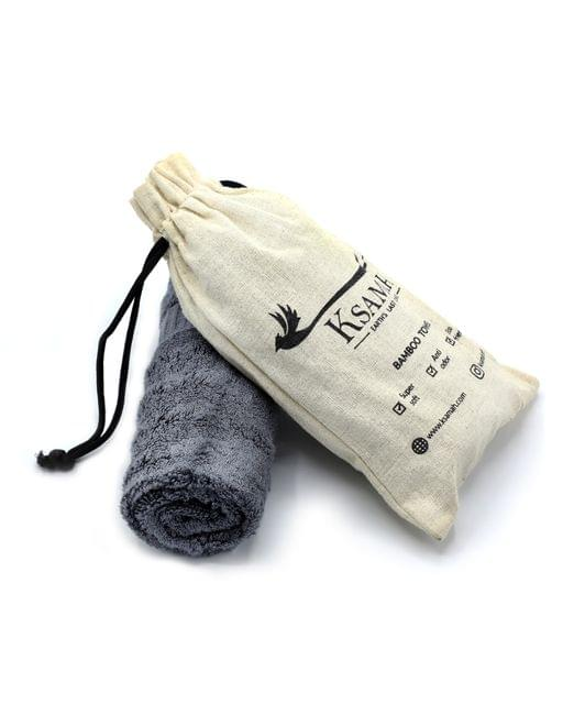 Bamboo Fitness Towel - Grey Colour