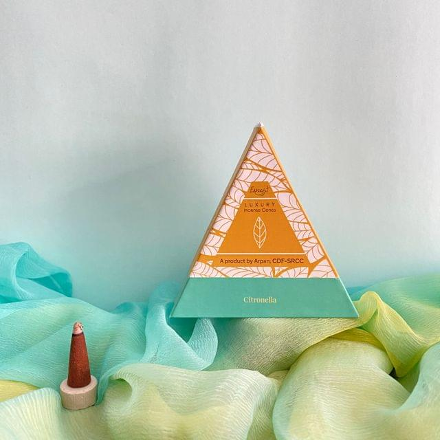 Flower-Based Citronella Incense Cones