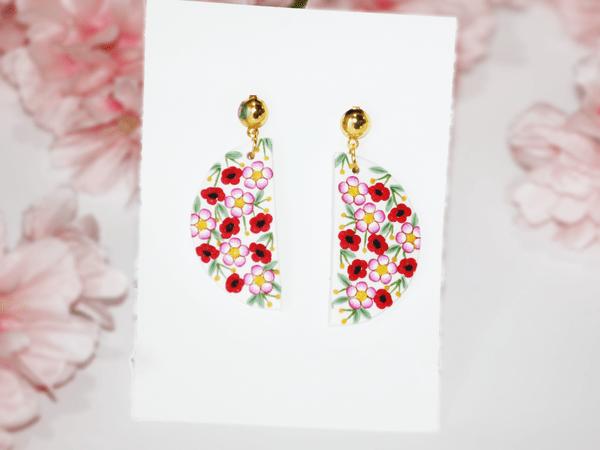 Peppy Poppies Earrings