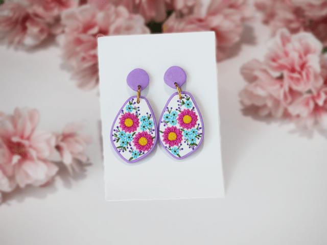 Pink Spring Earrings