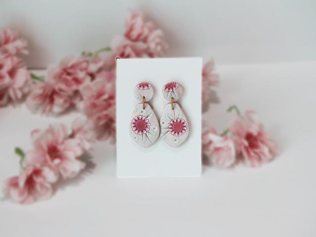 Shimmery Pink Earrings